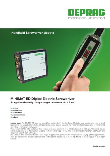 MINIMAT-ED Digital Electric Screwdriver