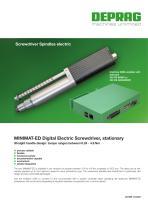 MINIMAT-ED DIgital electric screwdriver, stationary