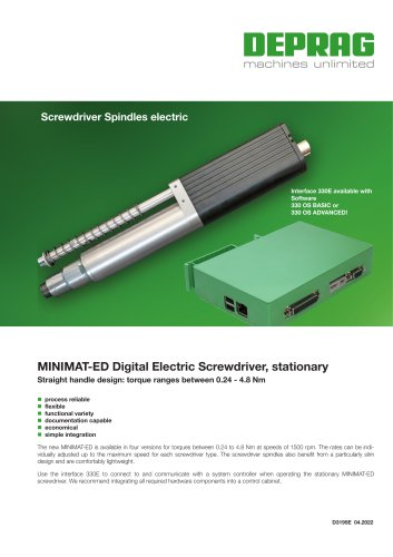 MINIMAT-ED DIgital electric screwdriver, stationary