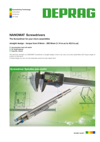 NANOMAT Control Screwdrivers