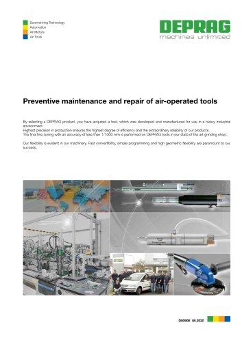 Preventive maintenance and repair of air-operated tools