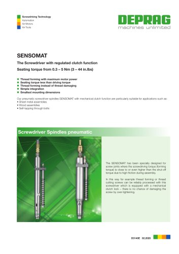 Stationary SENSOMAT Screwdriver Spindles