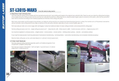 SUNTOP/5 axis CNC water jet cutting machine