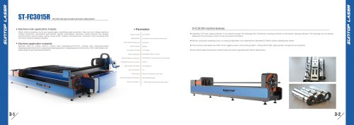 SUNTOP/CNC Fiber laser pipe and plate dual-function cutting machine