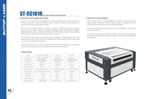SUNTOP/CO2 Laser cutting and engraving machine