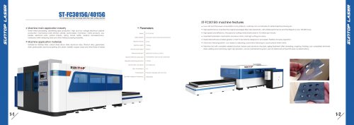 SUNTOP/Full enclosed and dual exchange table fiber laser cutting machine