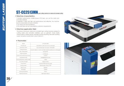 SUNTOP/Laser cutting machine for metal and nonmetal cutting