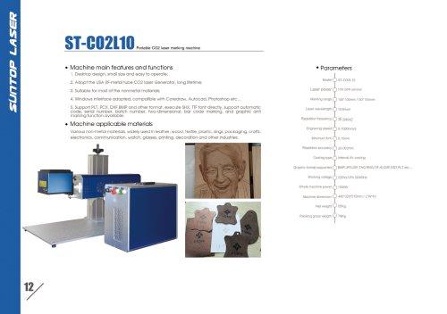 SUNTOP/Portable CO2 laser marking machine