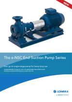 The e-NSC End Suction Pump Series