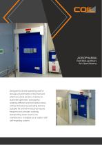 Fast Roll-up Doors for Clean Rooms AGROPHARMA