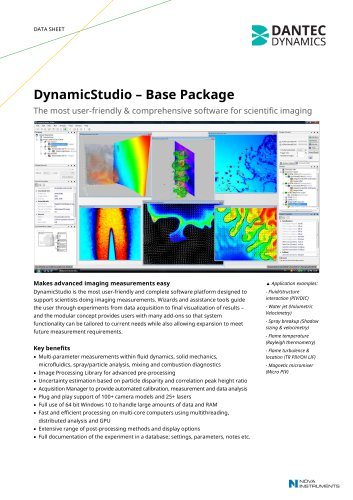 DynamicStudio Base Package - Dantec Dynamics A/S - PDF