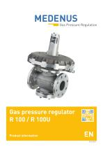Gas pressure regulator R 100 / R 100U