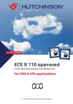 ECE R110 approved low temperature compounds for CNG & LPG applications