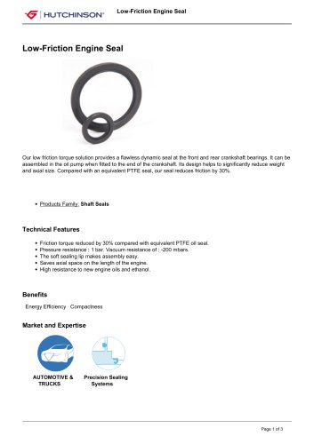 Low-Friction Engine Seal
