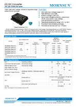 100W, wide input voltage, isolated & regulated single output DC-DC converter - 1