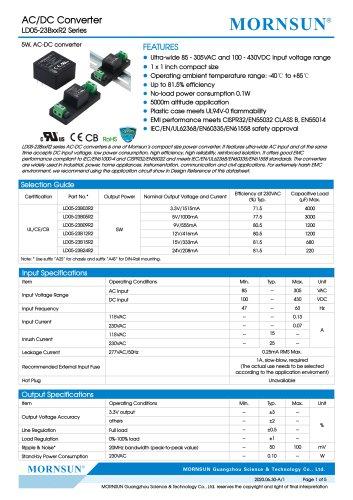 AC/DC Converter LD05-23BxxR2