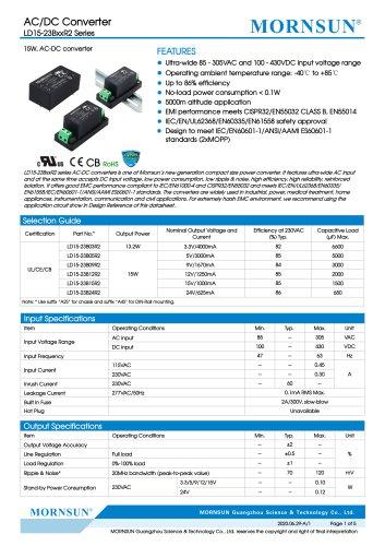 AC/DC Converter LD15-23BxxR2