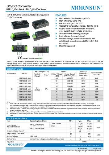 EN60950 approval:URB1D_LD-20W