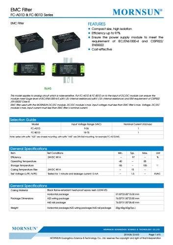 FC-B01D / 18~75vdc input / Target dc/dc converter