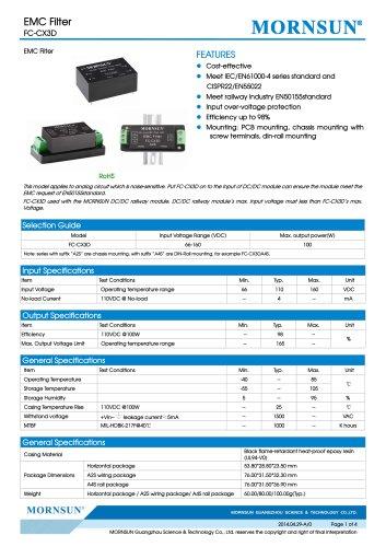 FC-CX3D / 66-160vdc input / Target dc/dc converter