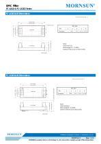 FC-LX1D / EMC filter / ±2/±4 KV Surge Voltage / for ac/dc - 7
