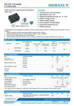 MORNSUN 0.25Watt/Fixed input voltage/isolated & unregulated single output DC DC power suplly/converter F_XT-W2R2 - 1