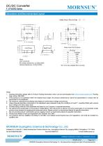 MORNSUN 0.25Watt/Fixed input voltage/isolated & unregulated single output DC DC power suplly/converter F_XT-W2R2 - 4