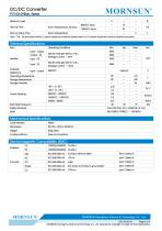 MORNSUN 150W  250 -1500VDC input DC-DC converter PV150-29BxxL - 2