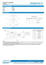 MORNSUN 1W DC-DC Isolated SMD Converter Transformer TTB05xx-1T - 2