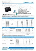 MORNSUN 1W isolated DC-DC converter  B_XT-1WR3/Fixed input voltage/single output - 1