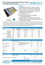 MORNSUN 200W AC/DC Enclosed Switching Power Supply LM200-10Bxx - 1