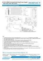 MORNSUN 200W AC/DC Enclosed Switching Power Supply LM200-10Bxx - 4