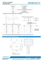 MORNSUN 25W 85-264VAC input AC/DC Converter LHE25-20Bxx - 4
