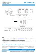 MORNSUN 3W AC-DC Automotive Isolated Transformer TTLS03-15B-T - 3