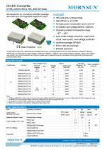 MORNSUN 3W Ultra-thin Isolated Output DC/DC Converters URB_J(M)T/D-3W - 1