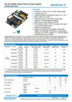 MORNSUN 450W AC/DC Enclosed Switching Power Supply LOF450-20Bxx - 1