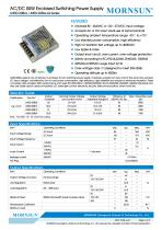 MORNSUN 50W AC/DC Enclosed Switching Power Supply LM50-20Bxx - 1