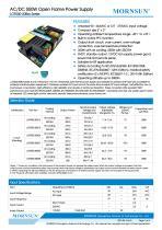 MORNSUN 550W AC/DC Enclosed Switching Power Supply LOF550-20Bxx - 1