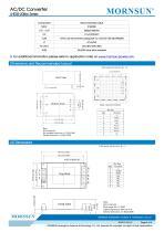 MORNSUN 5W 85-264VAC input AC/DC Converter LHE05-20Bxx - 4