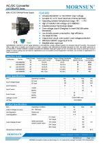 MORNSUN 60watt 85-264VAC input AC DC power supply / converter / DIN-Rail / LI60-20BxxPR2 - 1