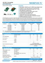 MORNSUN compact 3W AC DC converter LS03-13BxxR3-Flexible design for all-rounder applications
