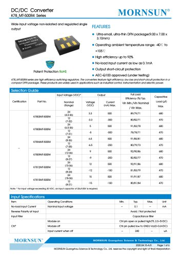 The Newest Chiplet SiP Switching Regulators K78-R4 Series