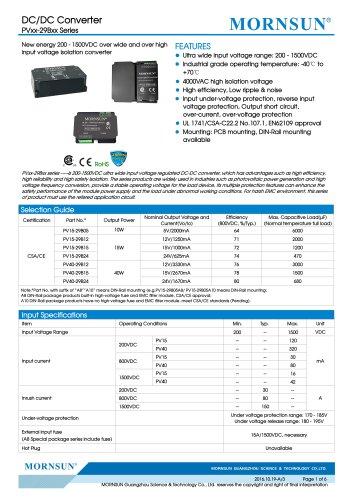 PVxx-29Bxx  targets PV Industry