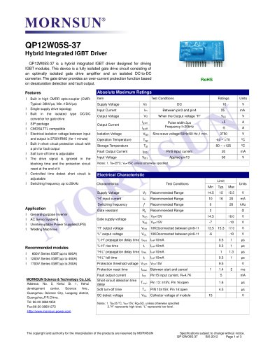 QP12W05S-37 / Hybrid Integrated IGBT driver