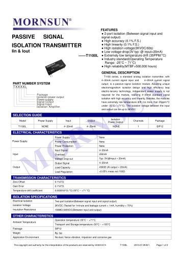 T1100L signal converter
