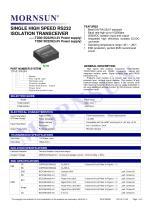 TDx01D232H / SINGLE HIGH SPEED / ISOLATION TRANSCEIVER / Integrated / 0~115.2Kbps - 1
