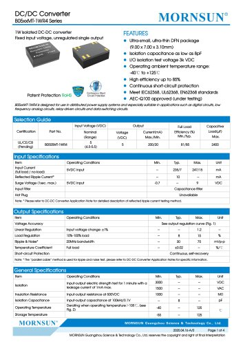 The Newest Chiplet SiP DC-DC Converter-Micro-size Fixed Input R4 Series