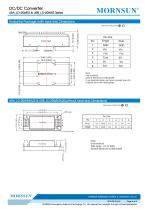 URA_LD-20WR3 / 4:1 / 20 watt / wide input voltage / dc dc converter / 1500Vdc isolation / ultra low power consumption / industrial / Regulated / Dual output / DIP - 6