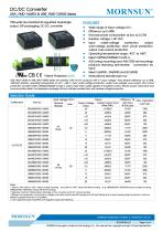 "URA_YMD-10WR3 / 4:1 / 1""*1"" / 10 watt dc dc converter - 1"