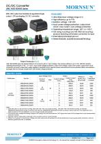 URB_YMD-20WR3 series are isolated 20W DC-DC products with 4:1 input voltage. - 1
